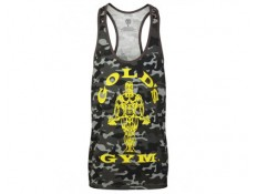GOLD'S GYM - Tank/Canotta classica Camouflage Nero