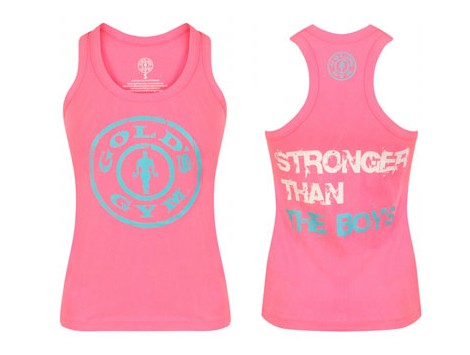Gold's Gym Ladies Muscle Joe Fitted Canottiera Rosa