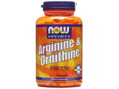 NOW - L-Arginine+Ornitine 500/250mg 100 compresse